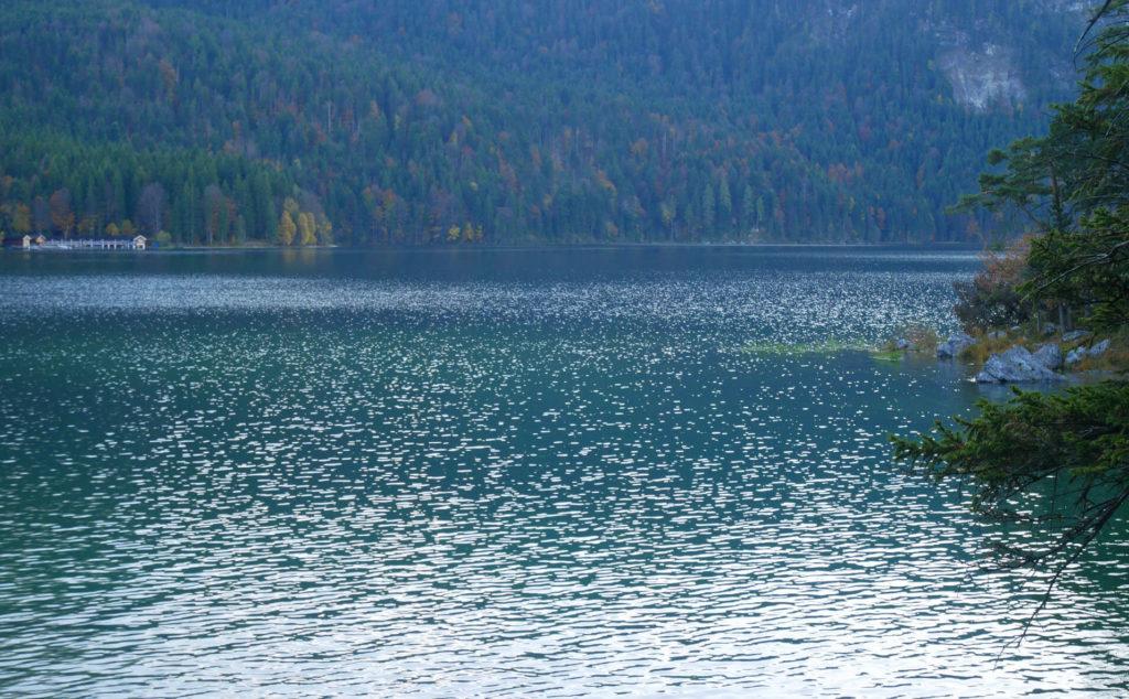 Eibsee Spaziergang im Herbst