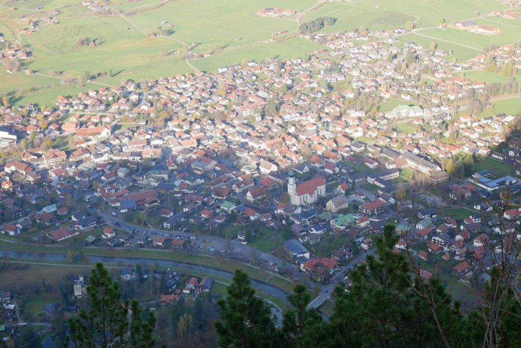 Blick auf Oberammergau vom Kofel
