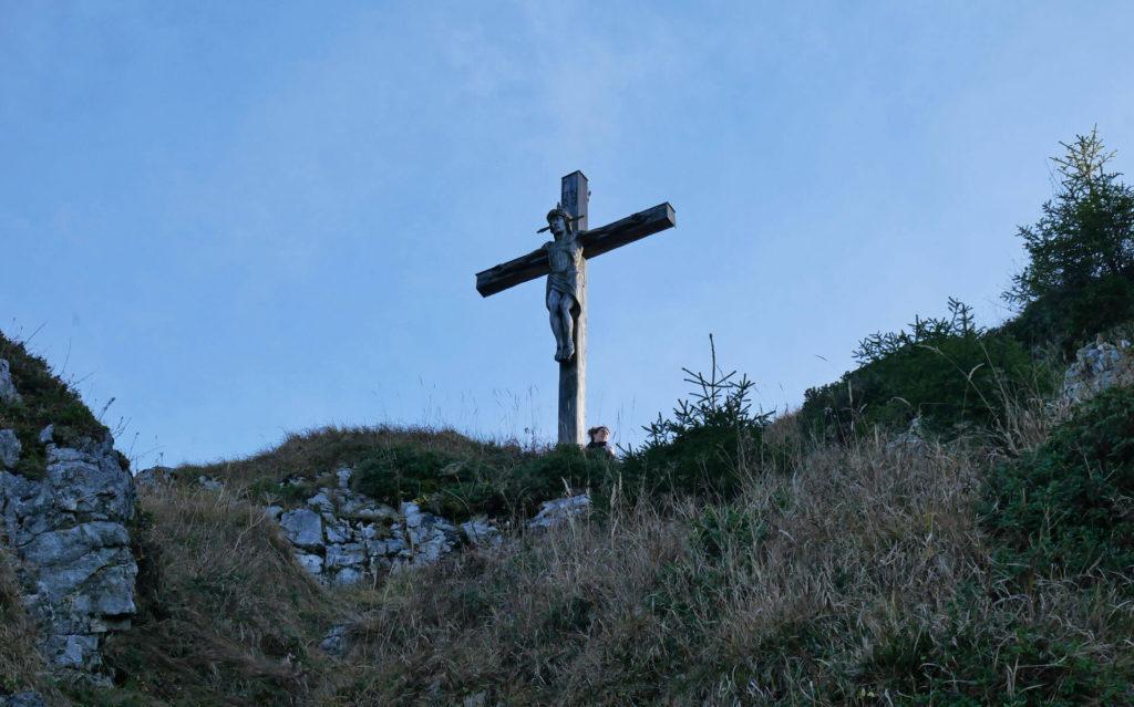 Kofel Gipfelkreuz Herbst