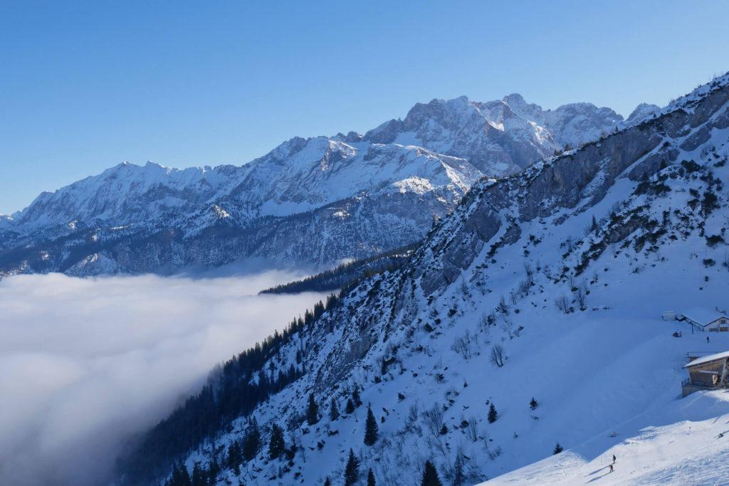 Hochalm Wettersteingebirge Winter