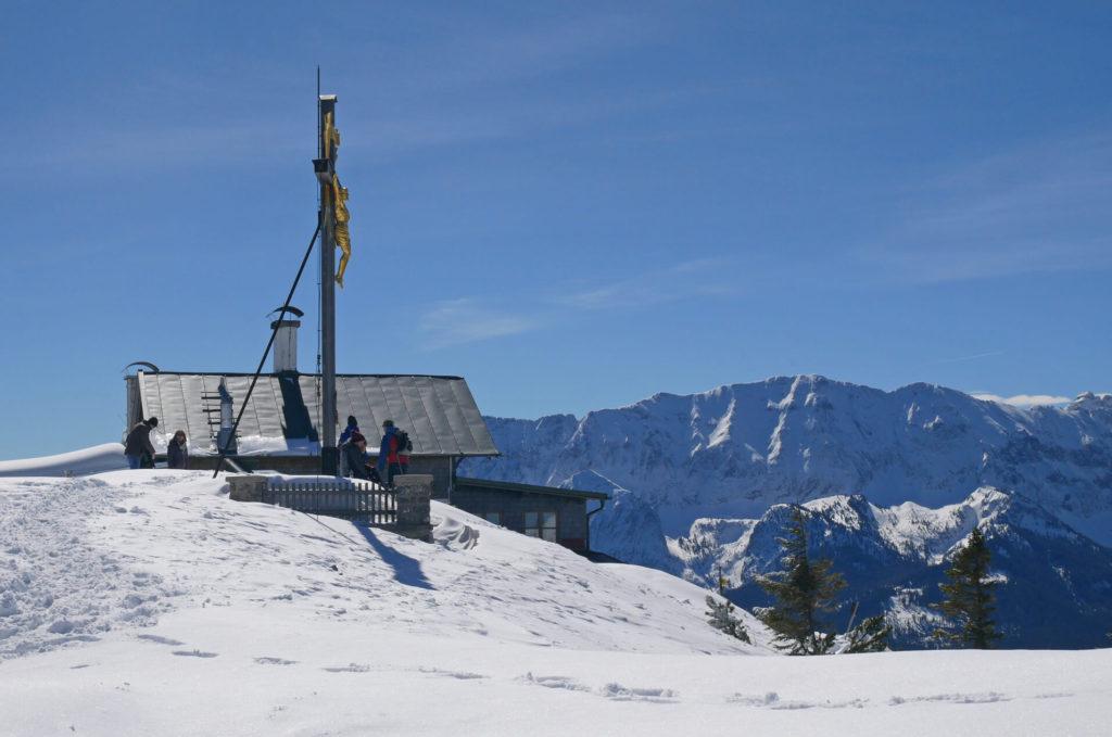 Wank Gipfelkreuz Winter