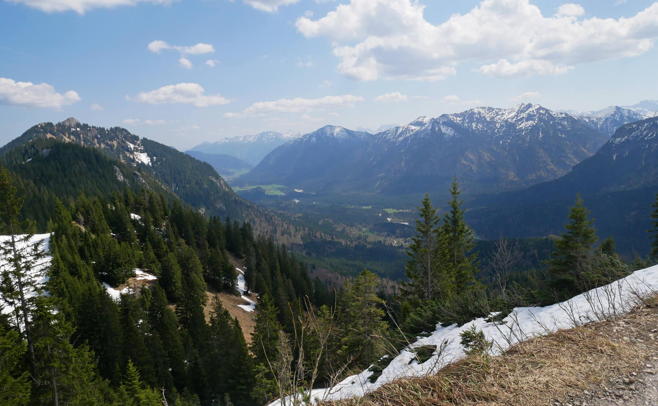 Brunnenkopf Ausblick Graswangtal
