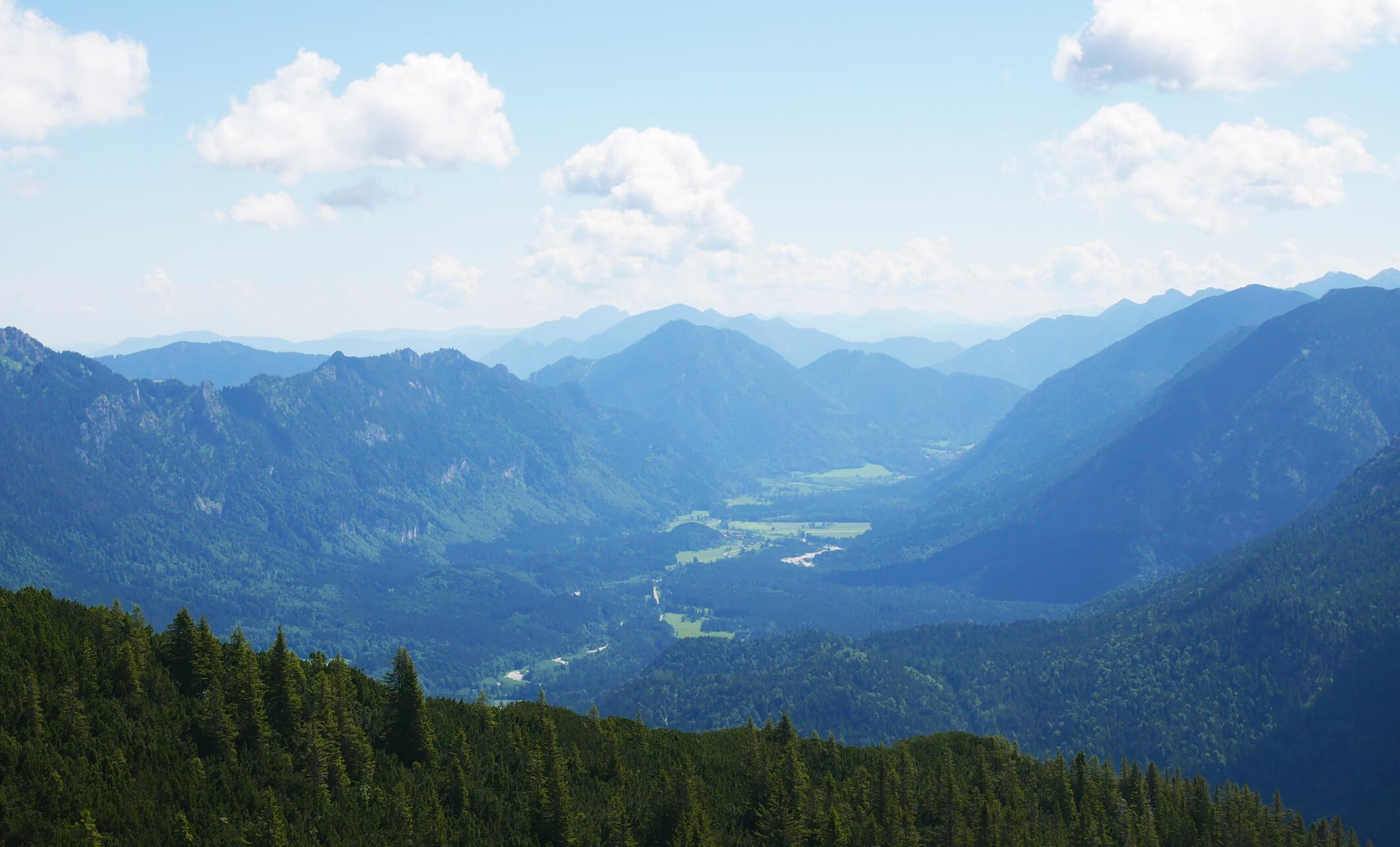 Scheinbergspitze Graswangtal Ausblick