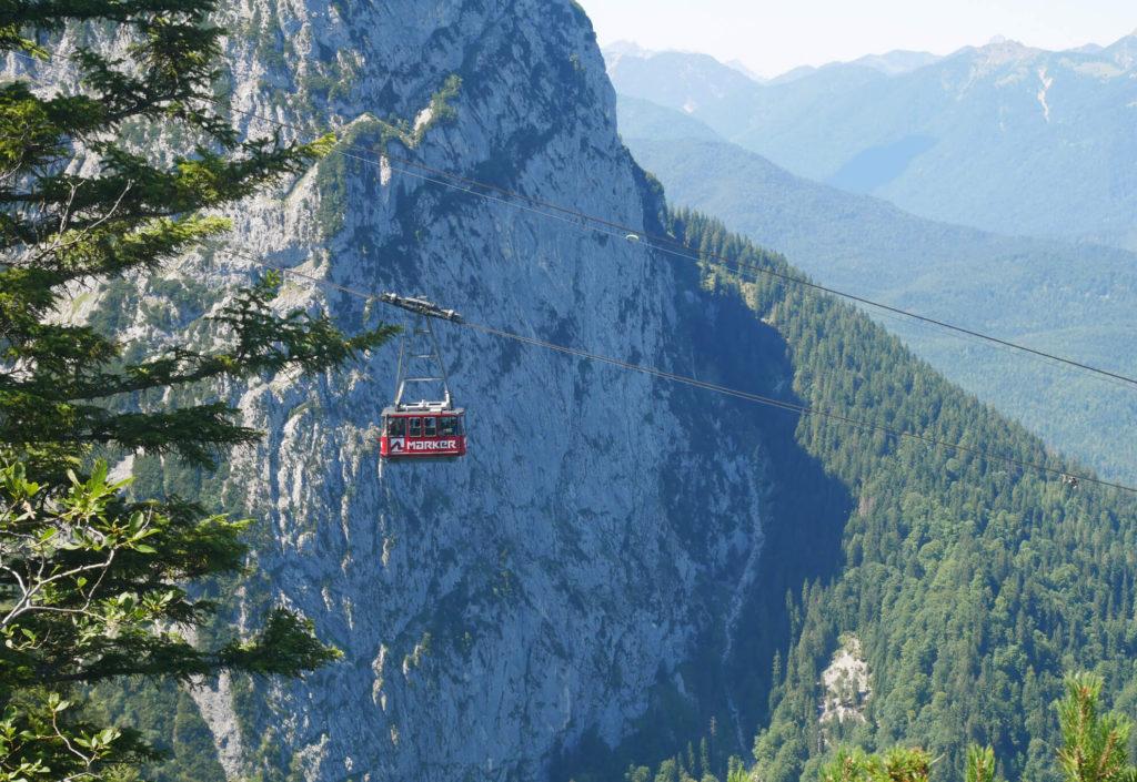 Alpspitzbahn fahrend