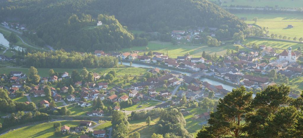 Heldenkreuz Eschenlohe Ausblick