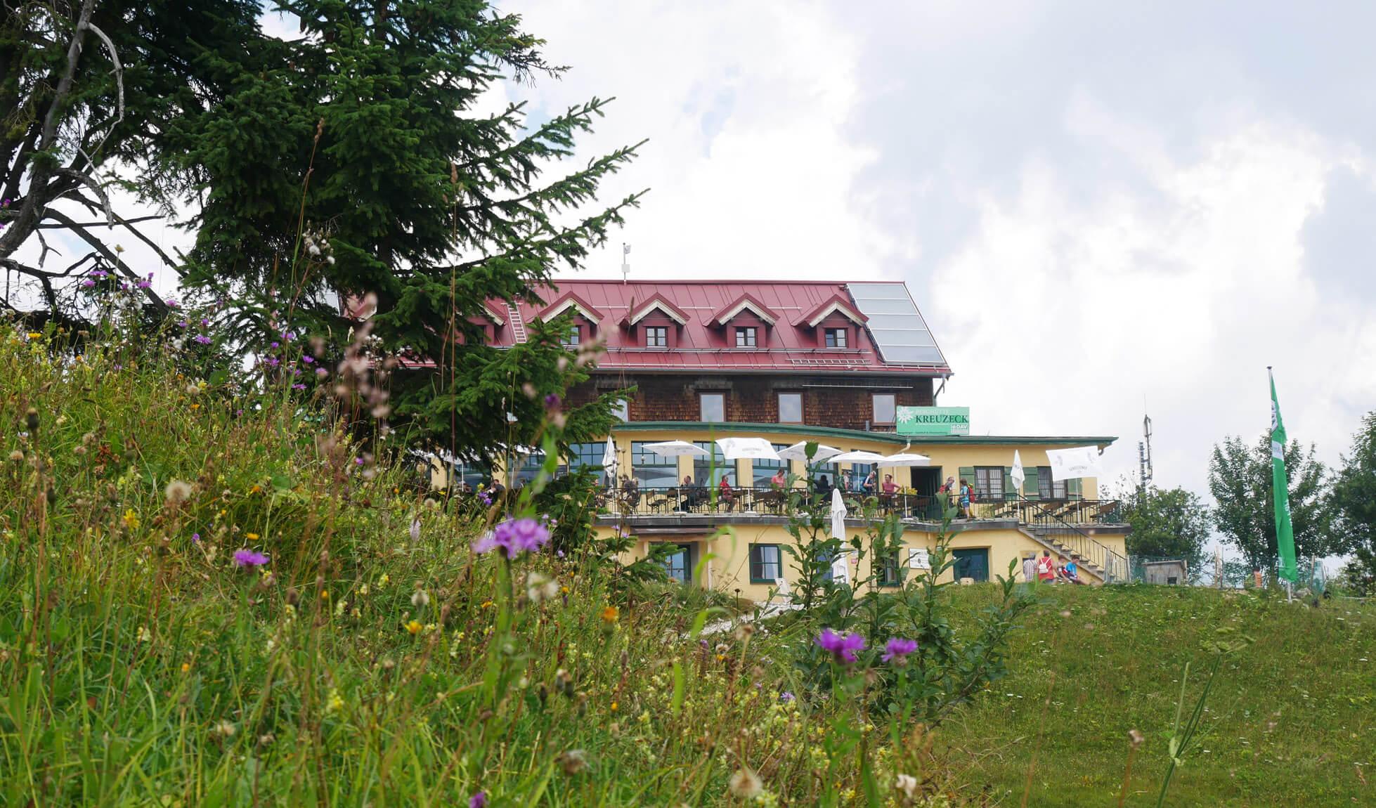 Kreuzeckhaus Garmisch Sommer