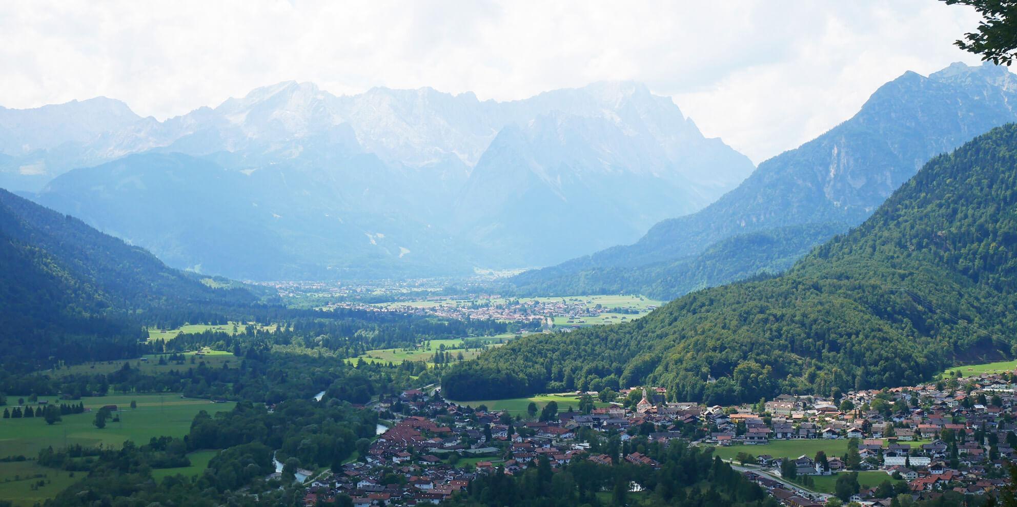 Loisachblick oberau Wettersteingebirge