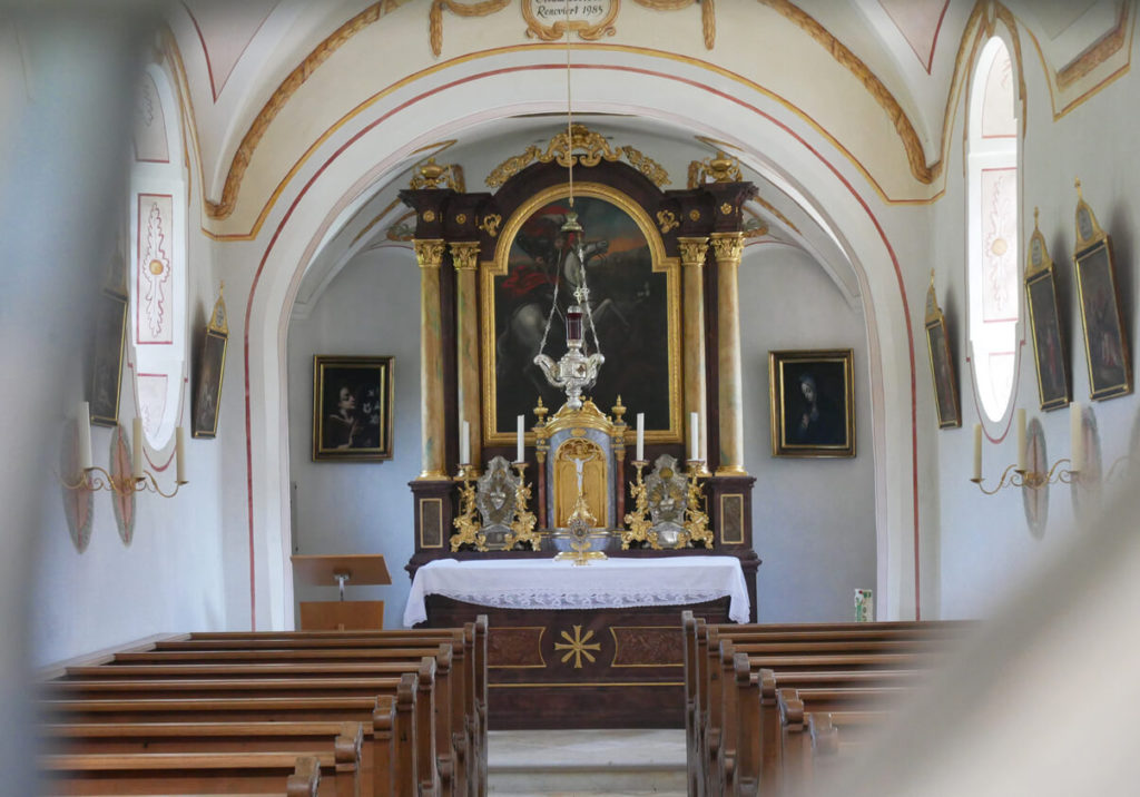 Oberau Bergfriedhof St. Georg Kirche