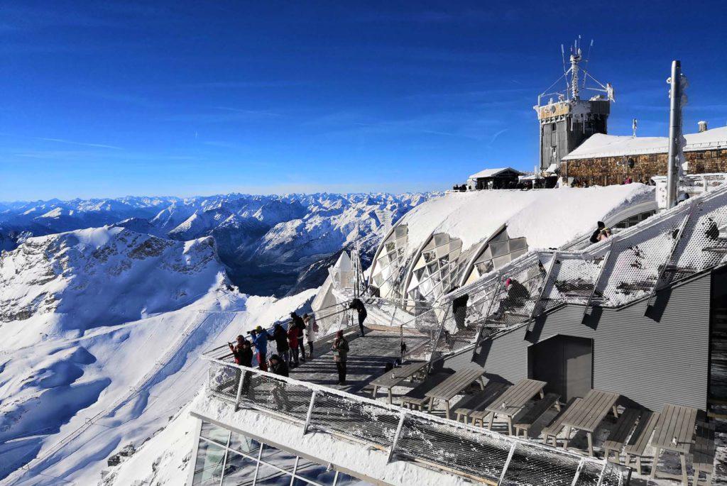 Zugspitze Terrasse Blick