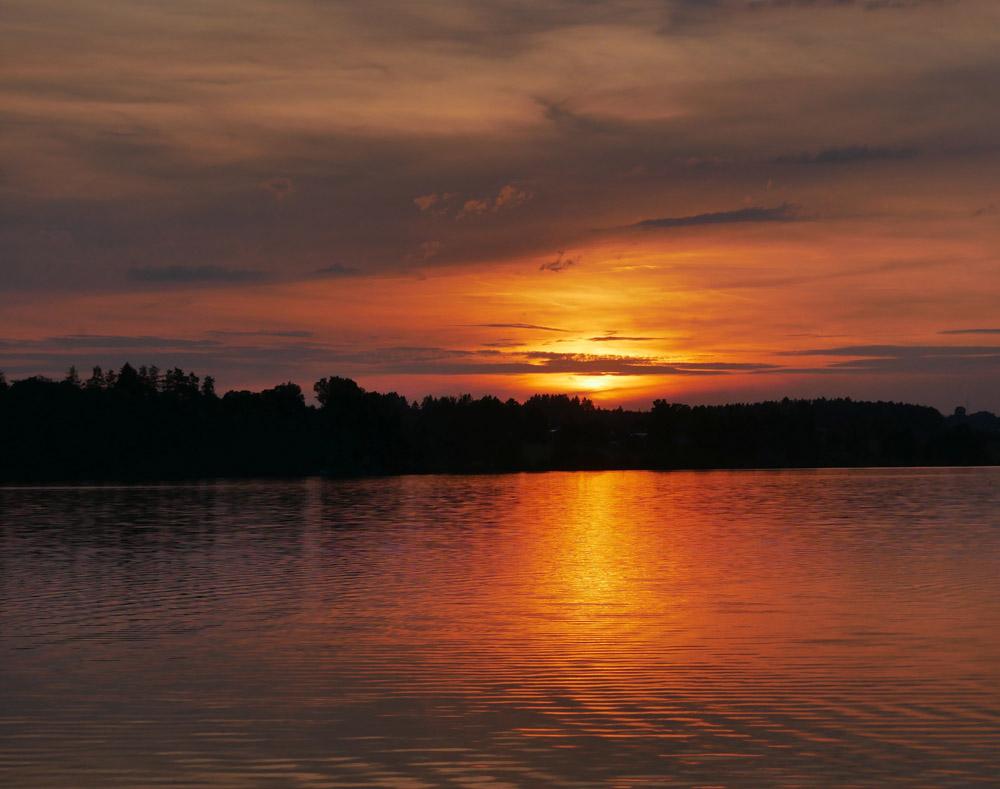 Riegsee Blaues Land Sonnenuntergang