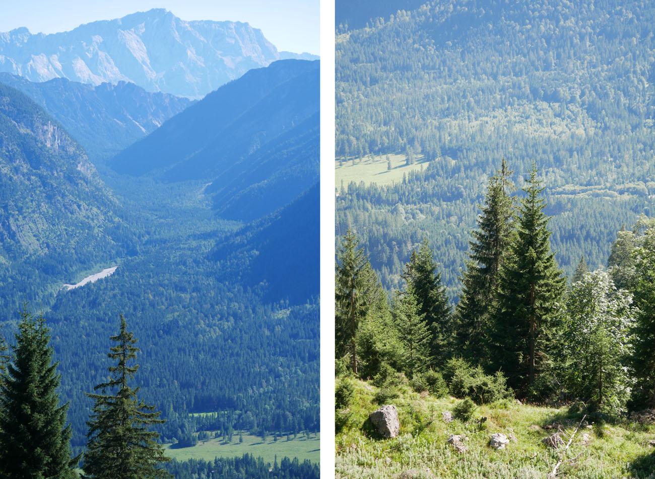 Pürschling Wanderung Ausblick Zugspitze